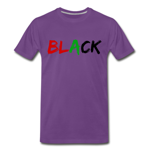 Black Men's Premium T-Shirt - purple