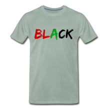 Load image into Gallery viewer, Black Men's Premium T-Shirt - steel green