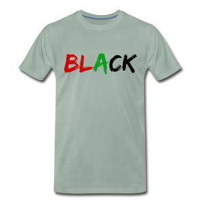 Black Men's Premium T-Shirt - steel green