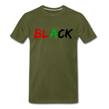 Load image into Gallery viewer, Black Men's Premium T-Shirt - olive green