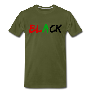 Black Men's Premium T-Shirt - olive green