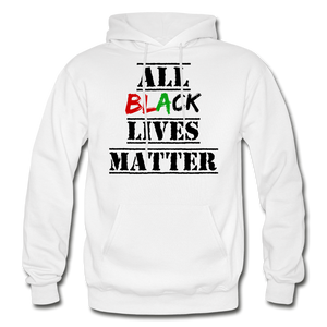All Black Lives Matter Adult Hoodie - white