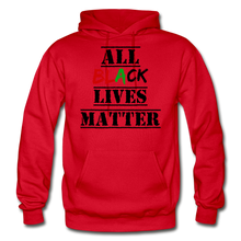 Load image into Gallery viewer, All Black Lives Matter Adult Hoodie - red