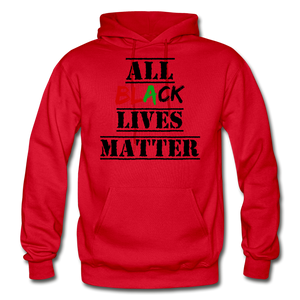 All Black Lives Matter Adult Hoodie - red