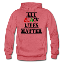 Load image into Gallery viewer, All Black Lives Matter Adult Hoodie - heather red