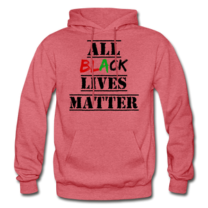 All Black Lives Matter Adult Hoodie - heather red
