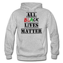 Load image into Gallery viewer, All Black Lives Matter Adult Hoodie - heather gray