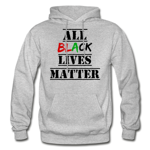 All Black Lives Matter Adult Hoodie - heather gray
