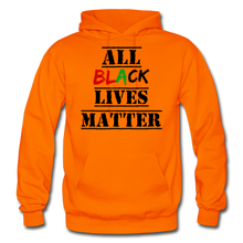 Load image into Gallery viewer, All Black Lives Matter Adult Hoodie - orange