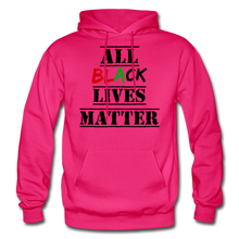 Load image into Gallery viewer, All Black Lives Matter Adult Hoodie - fuchsia