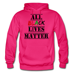 All Black Lives Matter Adult Hoodie - fuchsia