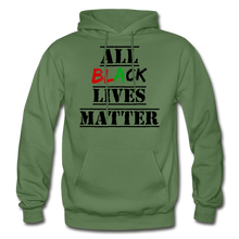 Load image into Gallery viewer, All Black Lives Matter Adult Hoodie - military green
