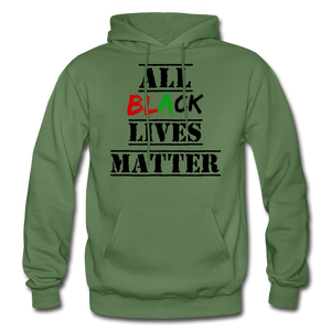 All Black Lives Matter Adult Hoodie - military green