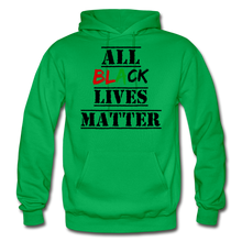Load image into Gallery viewer, All Black Lives Matter Adult Hoodie - kelly green