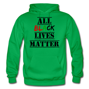 All Black Lives Matter Adult Hoodie - kelly green