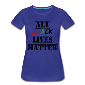 All Black Lives Matter Premium T-Shirt - royal blue