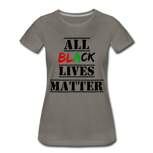 All Black Lives Matter Premium T-Shirt - asphalt gray