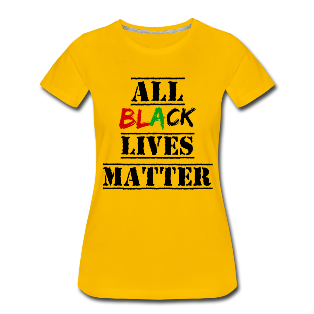 All Black Lives Matter Premium T-Shirt - sun yellow