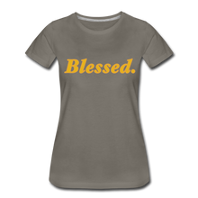 Load image into Gallery viewer, Blessed Period Women's Premium T-Shirt - asphalt gray