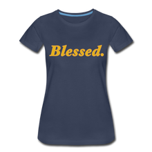 Load image into Gallery viewer, Blessed Period Women's Premium T-Shirt - navy
