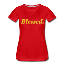 Load image into Gallery viewer, Blessed Period Women's Premium T-Shirt - red