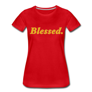 Blessed Period Women's Premium T-Shirt - red