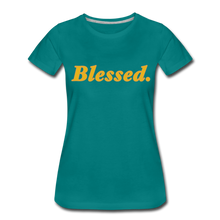 Load image into Gallery viewer, Blessed Period Women's Premium T-Shirt - teal
