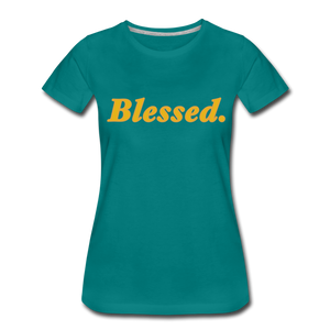 Blessed Period Women's Premium T-Shirt - teal