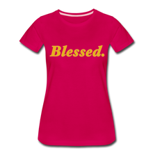 Load image into Gallery viewer, Blessed Period Women's Premium T-Shirt - dark pink