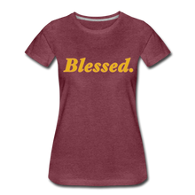 Load image into Gallery viewer, Blessed Period Women's Premium T-Shirt - heather burgundy