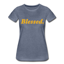 Load image into Gallery viewer, Blessed Period Women's Premium T-Shirt - heather blue