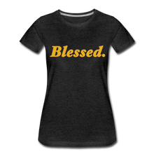Load image into Gallery viewer, Blessed Period Women's Premium T-Shirt - charcoal gray