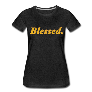 Blessed Period Women's Premium T-Shirt - charcoal gray