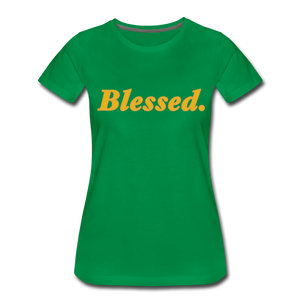 Blessed Period Women's Premium T-Shirt - kelly green