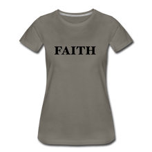 Load image into Gallery viewer, Faith Women's Premium T-Shirt - asphalt gray