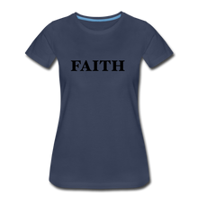 Load image into Gallery viewer, Faith Women's Premium T-Shirt - navy