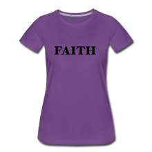 Load image into Gallery viewer, Faith Women's Premium T-Shirt - purple