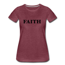 Load image into Gallery viewer, Faith Women's Premium T-Shirt - heather burgundy