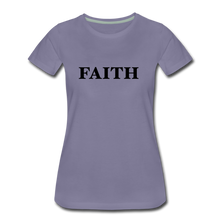Load image into Gallery viewer, Faith Women's Premium T-Shirt - washed violet
