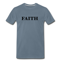 Load image into Gallery viewer, Faith Men's Premium T-Shirt - steel blue