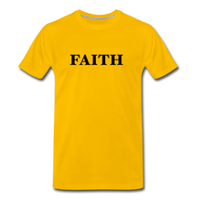 Load image into Gallery viewer, Faith Men's Premium T-Shirt - sun yellow