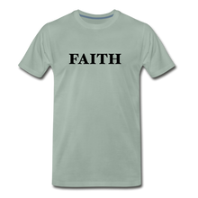 Load image into Gallery viewer, Faith Men's Premium T-Shirt - steel green