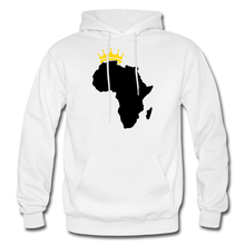 Load image into Gallery viewer, African Kings and Queens Men's Hoodie - white