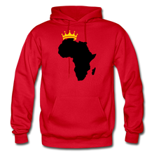 Load image into Gallery viewer, African Kings and Queens Men's Hoodie - red