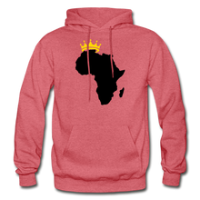 Load image into Gallery viewer, African Kings and Queens Men's Hoodie - heather red