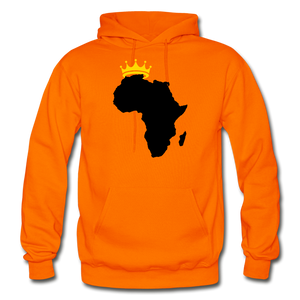 African Kings and Queens Men's Hoodie - orange