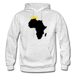 African Kings and Queens Men's Hoodie - light heather gray