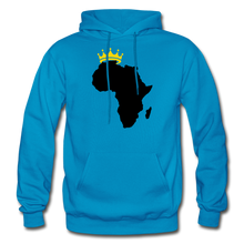 Load image into Gallery viewer, African Kings and Queens Men's Hoodie - turquoise