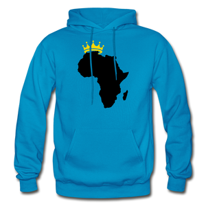 African Kings and Queens Men's Hoodie - turquoise