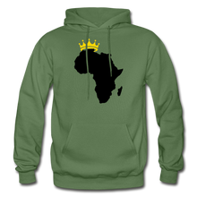 Load image into Gallery viewer, African Kings and Queens Men's Hoodie - military green